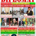 """Hejmara rojnama""""DÎPLOMAT"""" ya 313 û 314 derket"""