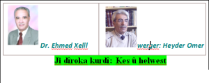 Ji dîroka kurdî Kes û helwest Xelek 2.