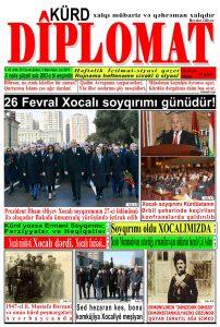 """Hejmara rojnama""""DÎPLOMAT"""" ya 450 derket û hat belavkirin, """"Diplomat"""" qəzetinin 450-cı sayı çıxdı və ..."""