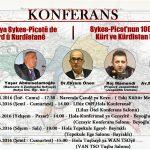 PAK li 5 Bajaran Konferansên bi navê  Di 100 Salîya Sykes-Pîcotê de Pirsa Kurd û Kurdistanê lidard...