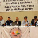 PAKê li Amedê Konferanseke Bi Navê ''Di sedsaliya Sykes-Picotê de Pirsa Kurd û Kurdistanê'' li darxi...