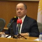Serokê Kurdistanê Mesûd Barzanî li Parlamentoya Ewropa li ser Referandûmê Axaftinek kir